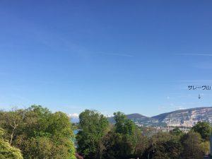 滞在していた部屋から見たサレーヴ山の写真