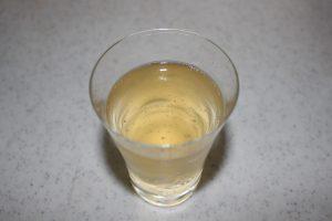 梅シロップの炭酸割りの写真