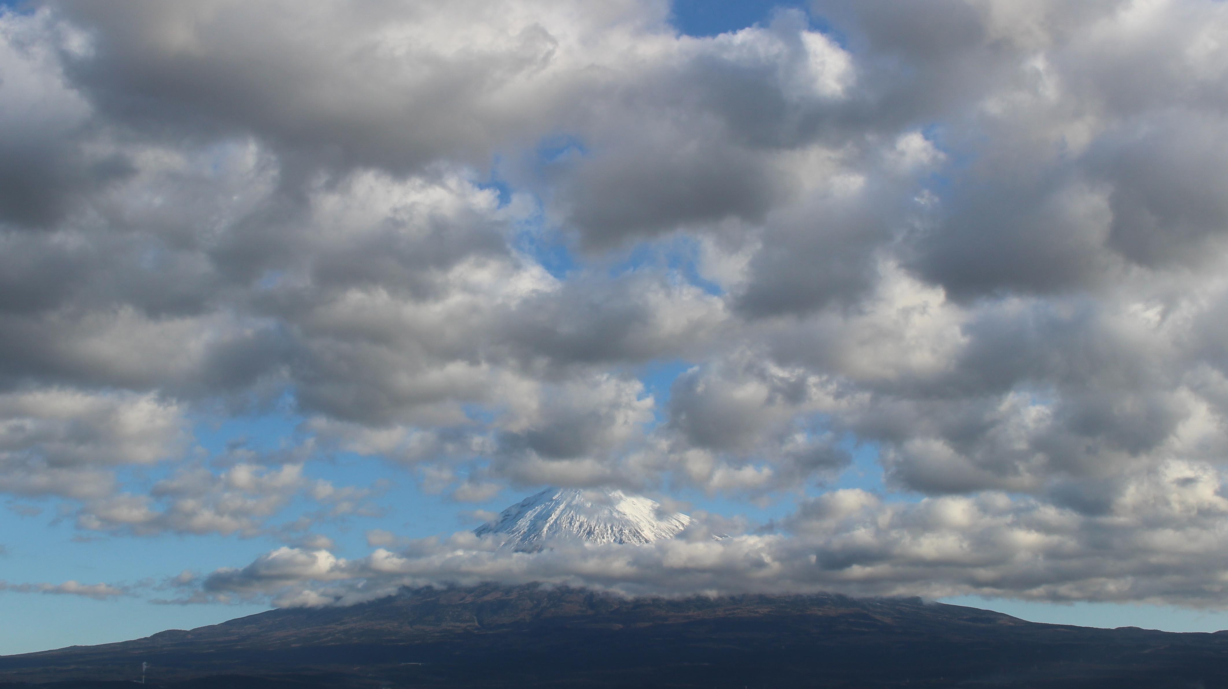 2017年1月18日の富士山の写真