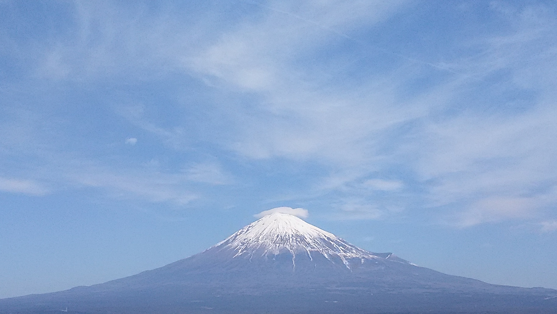 2017年1月29日の富士山の写真