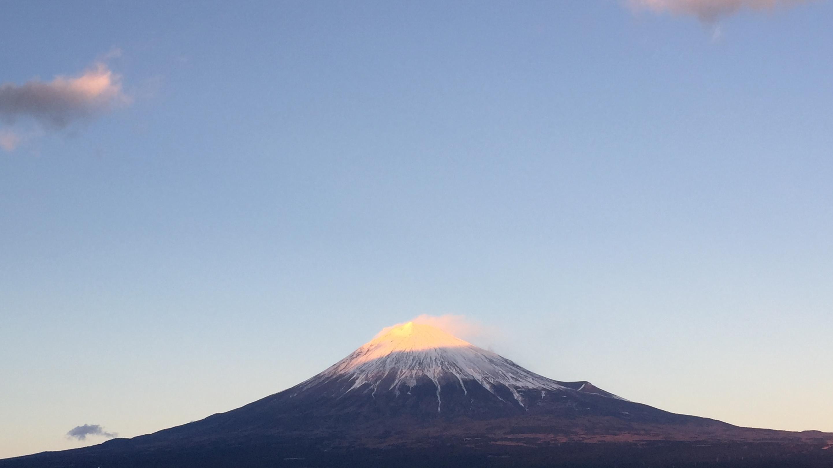 2017年1月15日の富士山の写真
