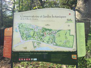 ジュネーブの植物園のマップの写真