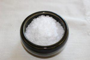 できあがった塩の写真