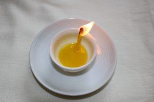 菜種油の灯りの写真
