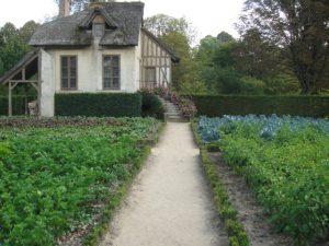 ヴェルサイユ宮殿内のマリー・アントワネットのプチ・トリアノンの庭