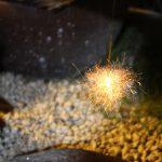 庭で純国産の線香花火をしました!